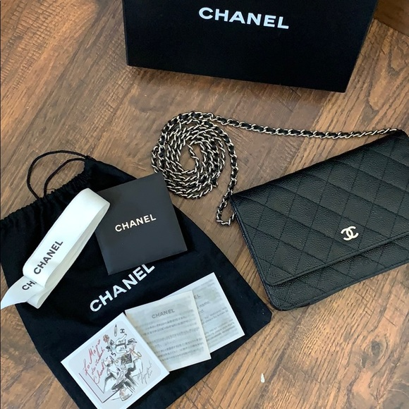 CHANEL Handbags - Black Chanel Wallet On Chain SHW Made In France